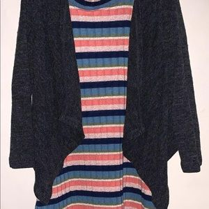 Fairly new 2 pieces dress with cardigan